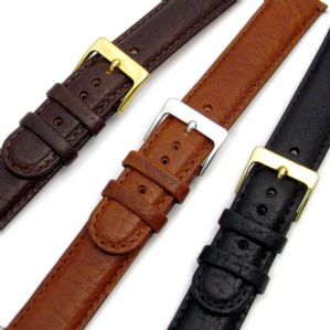 Ventilated Air-Con Padded Leather Watch Strap 16mm 18mm 20mm C002